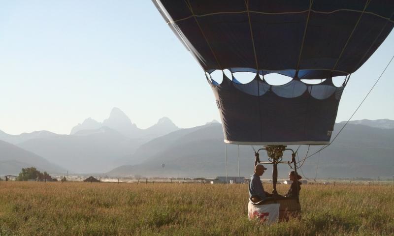 Hot Air Balloon Ride in Teton Valley Idaho